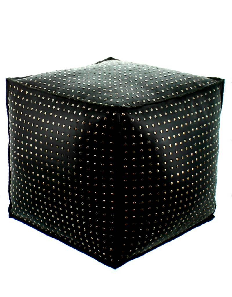 Maroc 'n Roll leather ottoman maroc 'n roll 45x45cm