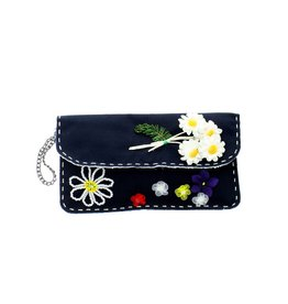 Maroc 'n Roll clutch with fantasy flowers