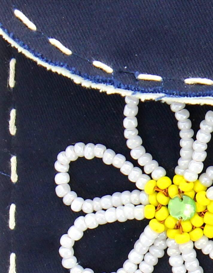 Maroc 'n Roll Handtas uit katoen - Blauw met bloemen