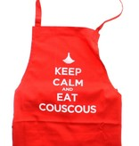"Chabi Chic Keukenschort - ""Keep calm and eat couscous"""