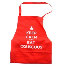 "Chabi Chic Kitchen apron ""Keep calm and eat couscous"" - Red"