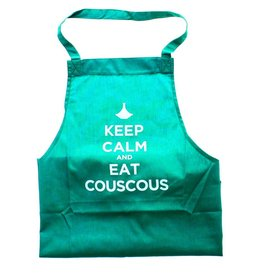 "Chabi Chic Kitchen apron ""Keep calm and eat couscous"" - Green"
