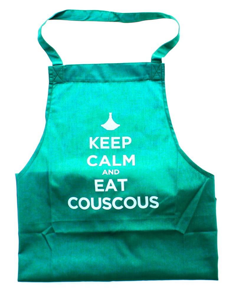 "Chabi Chic Keukenschort - ""Keep calm and eat couscous"""