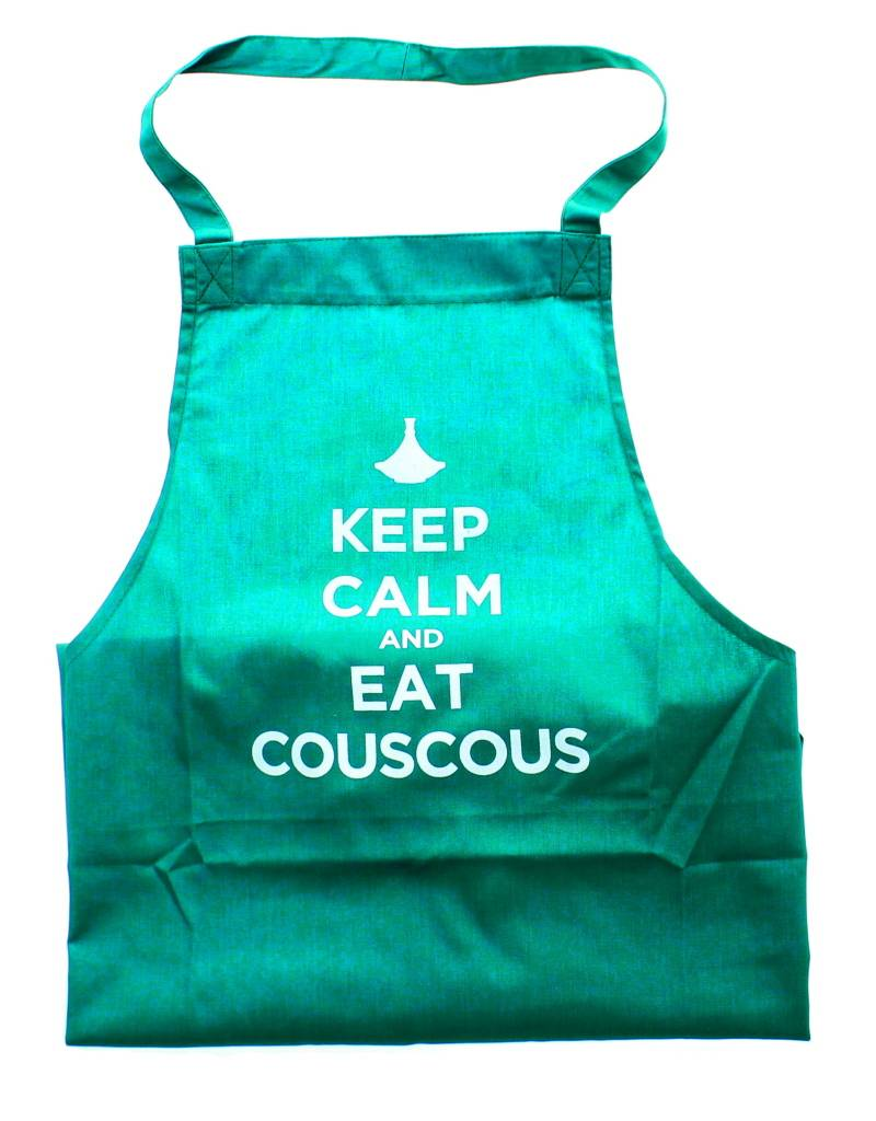 "Chabi Chic Tablier - ""Keep calm and eat couscous"""