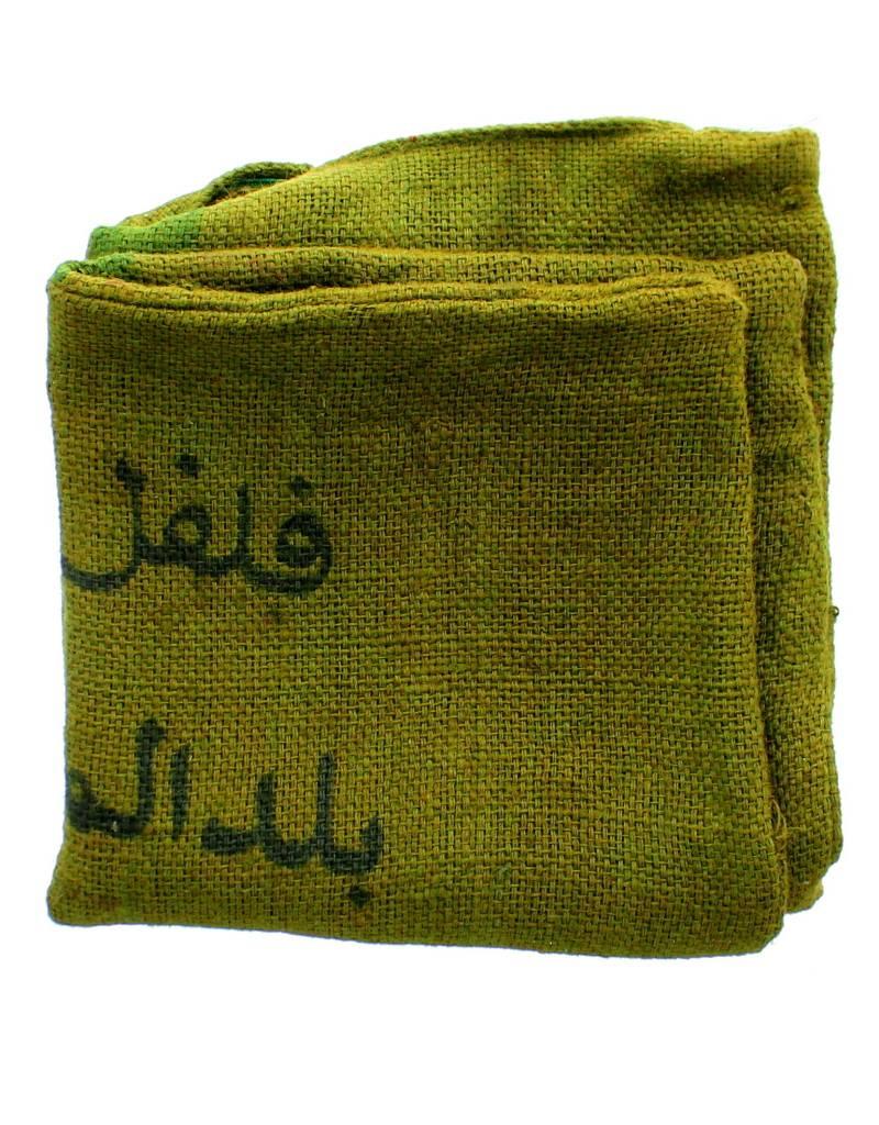 Marrakshi Life Kussen uit jute - Groen