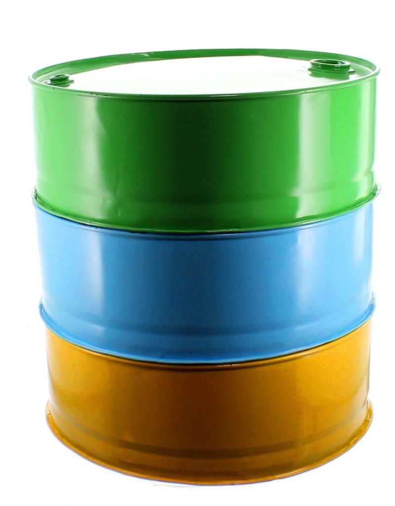 Bladi Design Handgemaakte bijzettafel uit olievat - Blauw