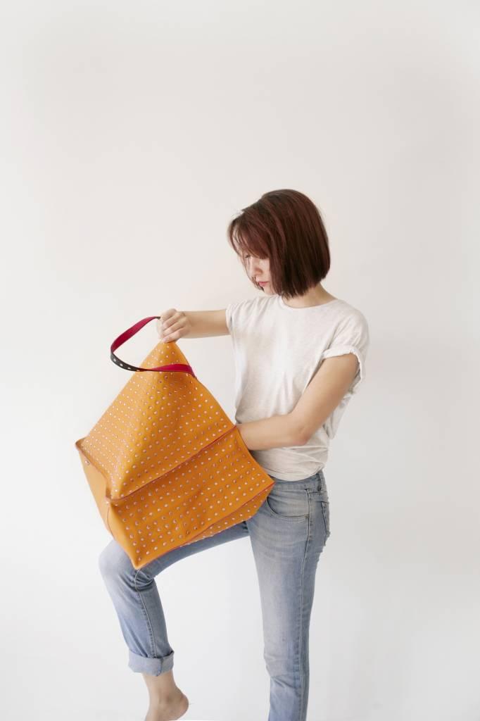 Maroc N Roll Leather Tote Bag Porteur D Eau Xl