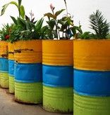 Bladi Design Table basse recyclée faite main - Jaune