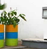 Bladi Design Handgemaakte bijzettafel uit olievat - Groen