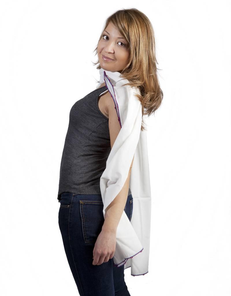 Léo Atlante scarf blue pink