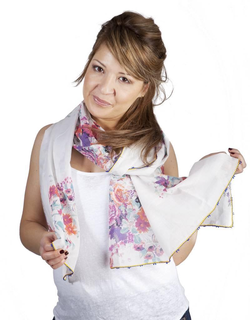 Léo Atlante scarf lush bouquet