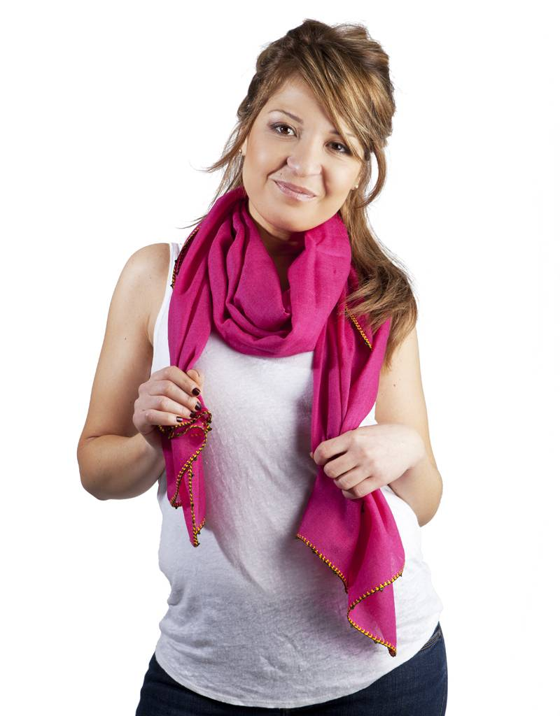 Léo Atlante fuchsia scarf