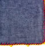 Léo Atlante Écharpe en laine brodée main - Gris