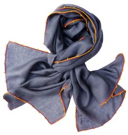 Léo Atlante scarf grey silk