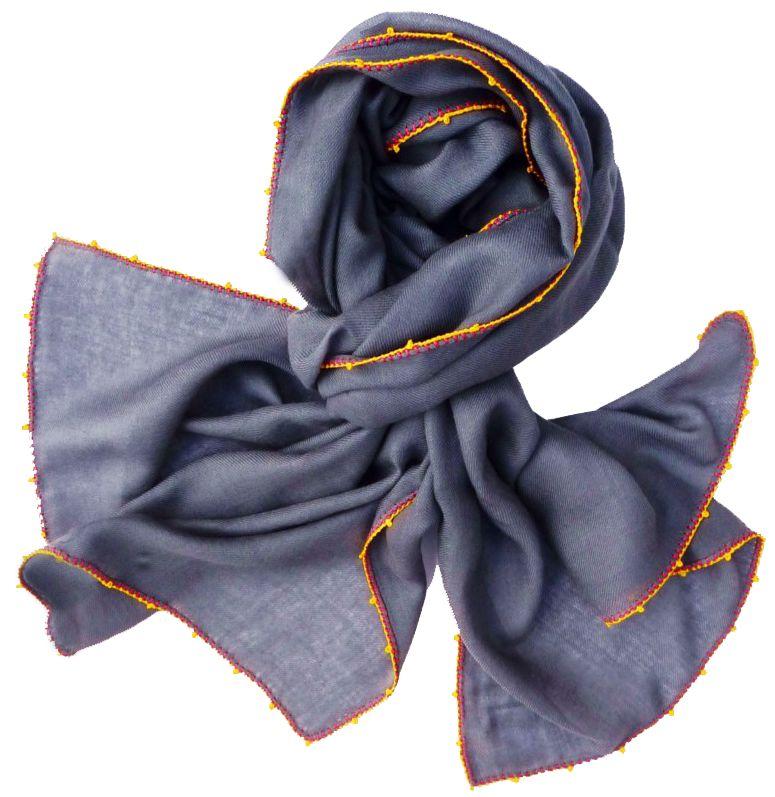 Léo Atlante scarf grey silk