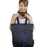 Rock da Kasbah Draagtas uit katoen pentagram - Zwart