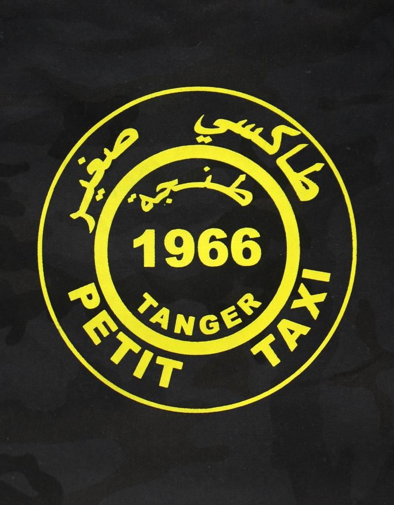 Rock da Kasbah Cabas taxi en coton L - Noir et jaune