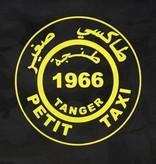 Rock da Kasbah Cabas taxi en coton XL - Noir et jaune