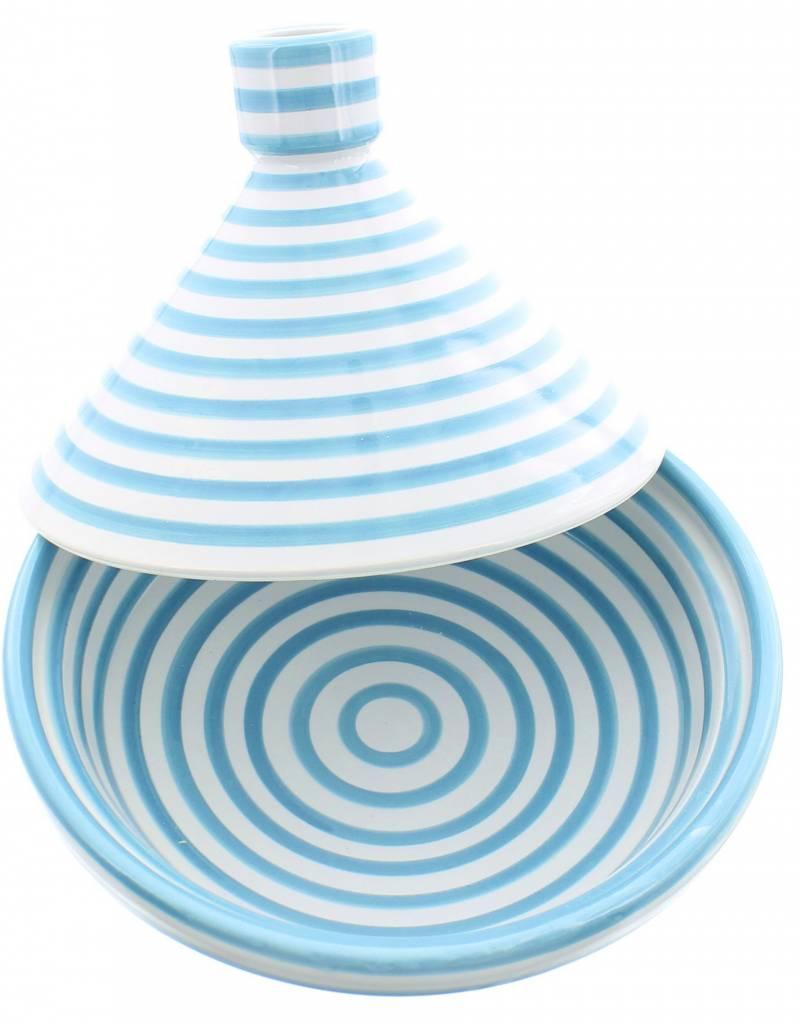 Chabi Chic Tajine uit ceramiek - Turquoise en wit zebra