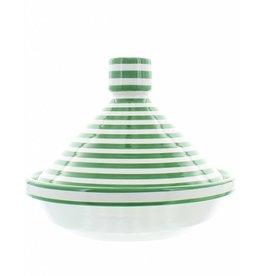 Chabi Chic Tajine uit ceramiek - Groen en wit zebra
