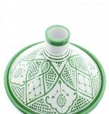 Chabi Chic Tajine uit ceramiek - Groen en wit Safi