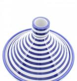 Chabi Chic Tajine motif zèbre - Bleu