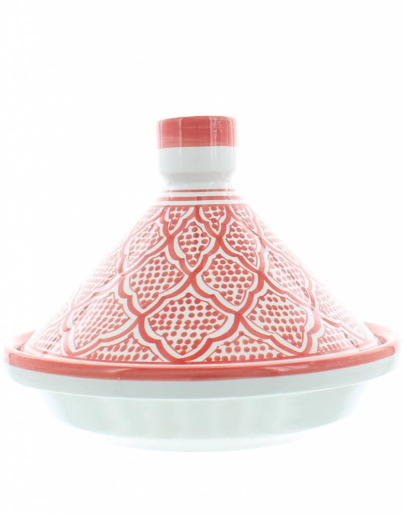 Chabi Chic Tajine uit ceramiek - Rood en wit Safi