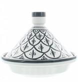 Chabi Chic Tajine uit ceramiek - Zwart en wit Safi