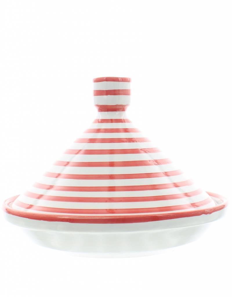 Chabi Chic Tajine uit ceramiek - Rood en wit zebra