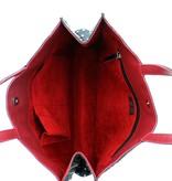 Maroc 'n Roll Soepele kalfslederen draagtas L - Bruin