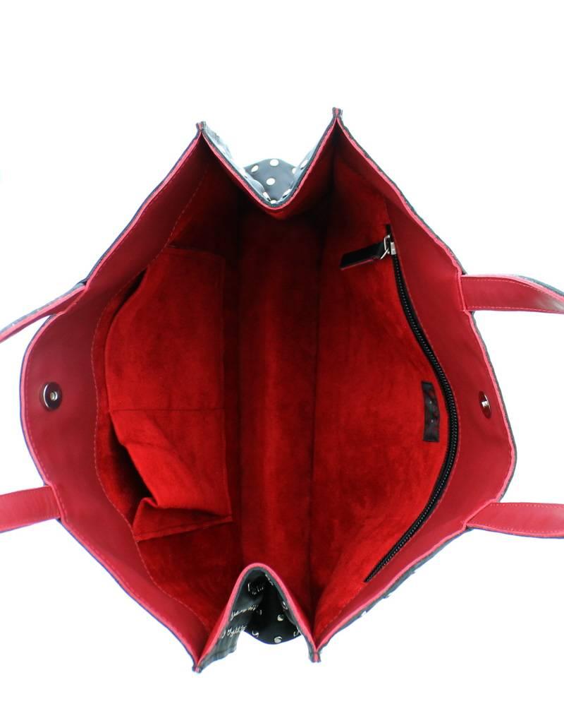 Maroc 'n Roll Soepele kalfslederen draagtas L - Khaki