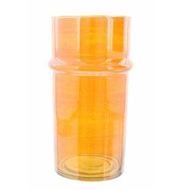 Verre Beldi Handgeblazen vaas - Oranje 28cm L