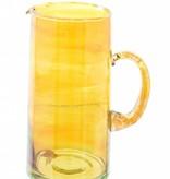 Verre Beldi Carafe verre soufflé 1L - Orange