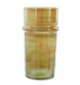 Verre Beldi Handgeblazen vaas - Gerookt glas 28cm L