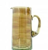 Verre Beldi pitcher mouthblown glass 1L smoked
