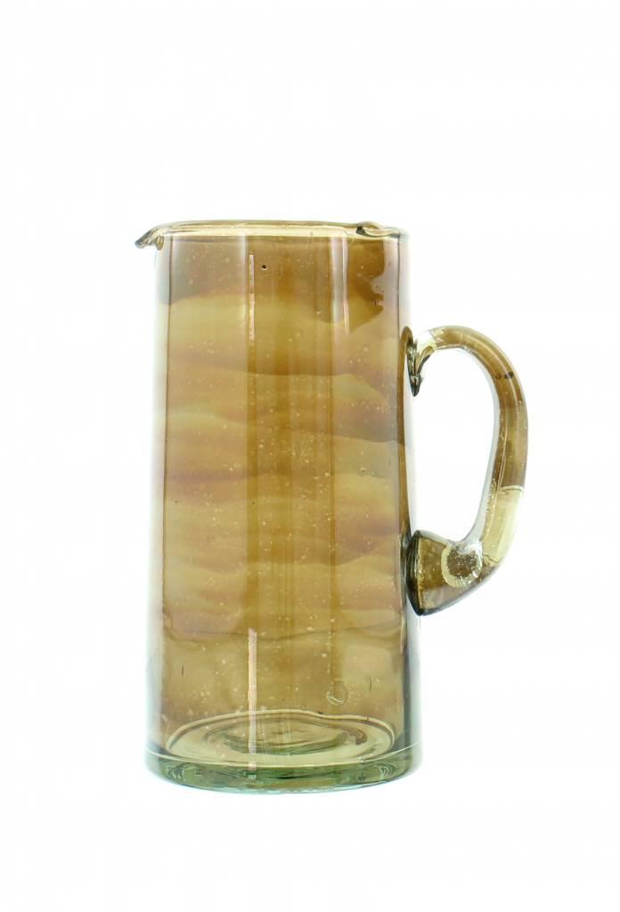 Verre Beldi Handgeblazen karaf 1L - Gerookt glas