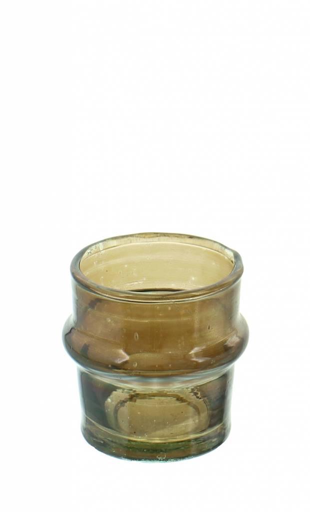 Verre Beldi Handgeblazen kaarshouder - Gerookt glas