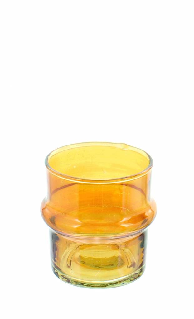 Verre Beldi mouthblown candleholder orange