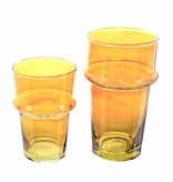 Verre Beldi mouthblown drinking glass orange 20cl