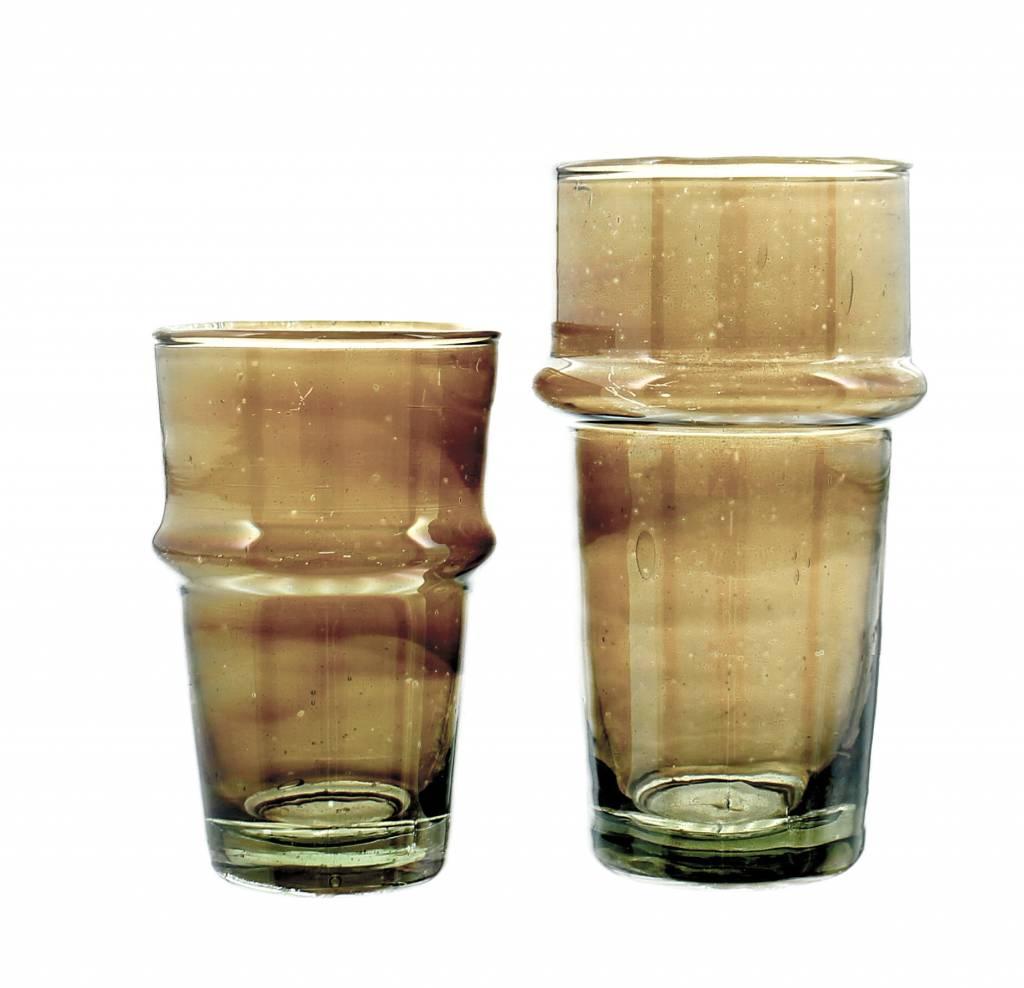 Verre Beldi Handgeblazen theeglas - Gerookt glas 12cl