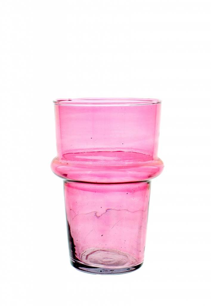Verre Beldi mouthblown vase large 20cm pink