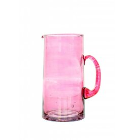 Verre Beldi pitcher mouthblown glass 1L pink