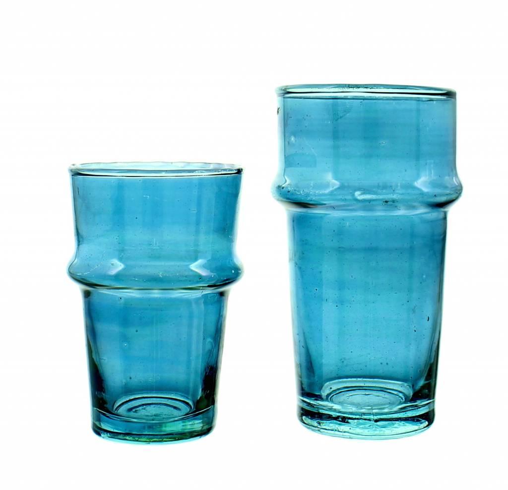 Verre Beldi Verre à thé soufflé - Bleu 12cl