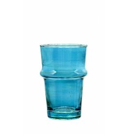 Verre Beldi mouthblown tea glass blue 12cl