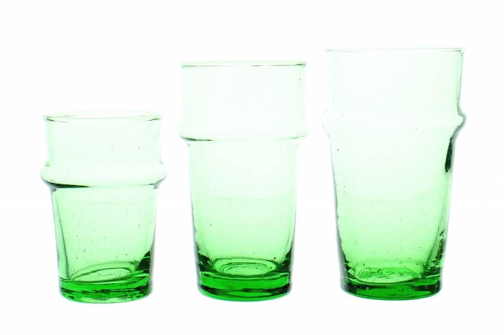 Verre Beldi Handgeblazen theeglas - Groen 12cl