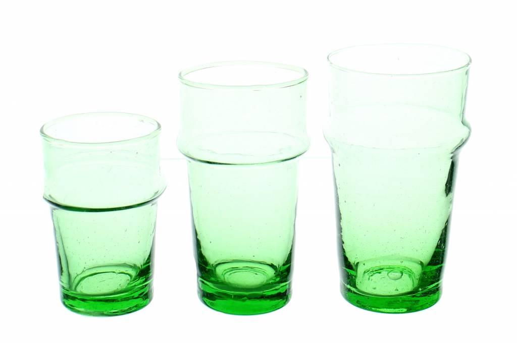 Verre Beldi mouthblown drinking glass green 30cl