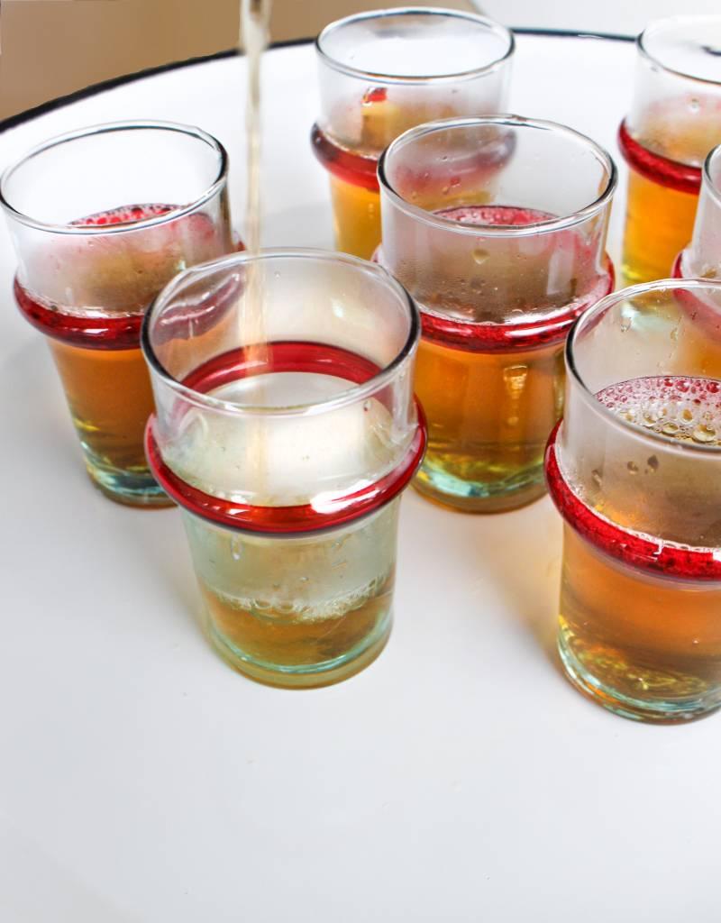 Verre Beldi mouthblown tea glass 12cl handpainted