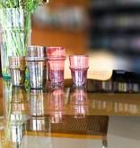 Verre Beldi mouthblown tea glass pink 12cl