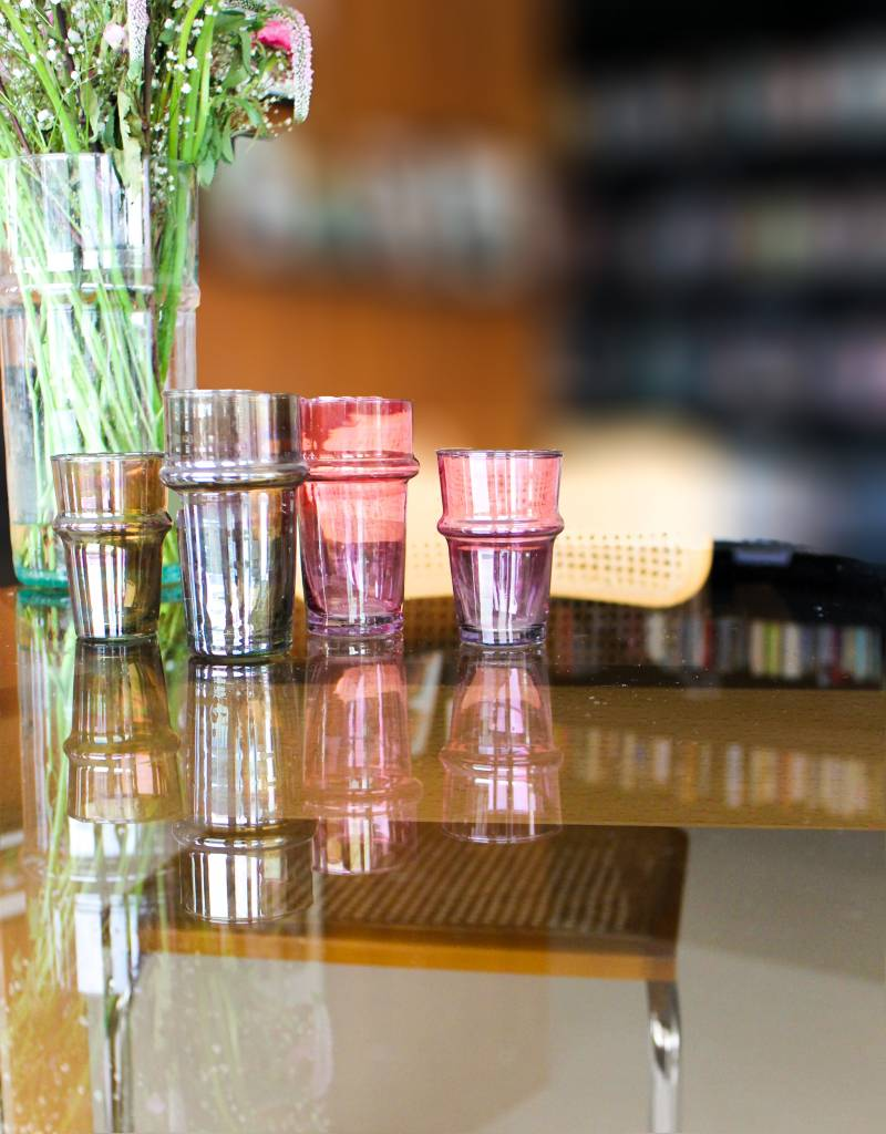 Verre Beldi Handgeblazen theeglas - Roze 12cl