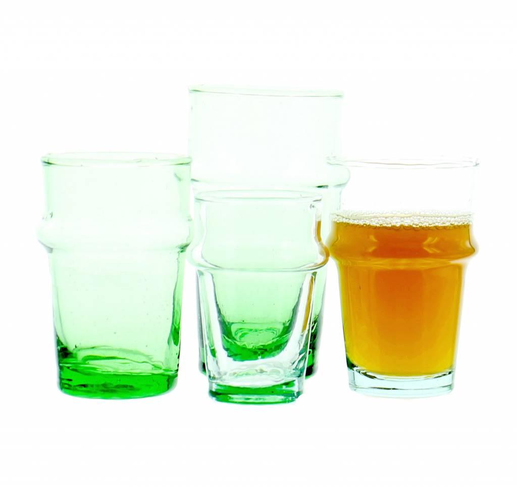 Verre Beldi mouthblown tea glass green 12cl